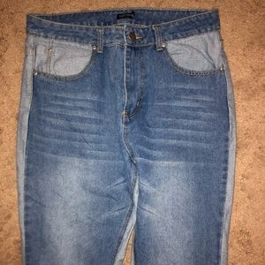 NEVER BEEN WORN Nasty Gal TwoToned Boyfriend Jeans